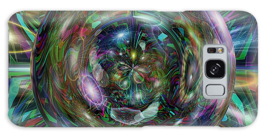 Abstract Galaxy S8 Case featuring the digital art Through The Looking Glass by Tim Allen