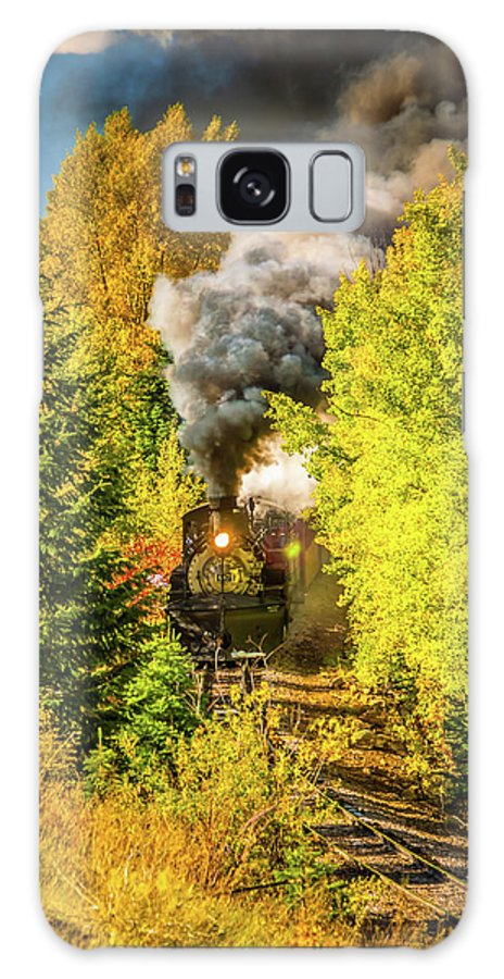 Cumbres & Toltec Railroad Galaxy S8 Case featuring the photograph Through The Trees by Tom Weisbrook