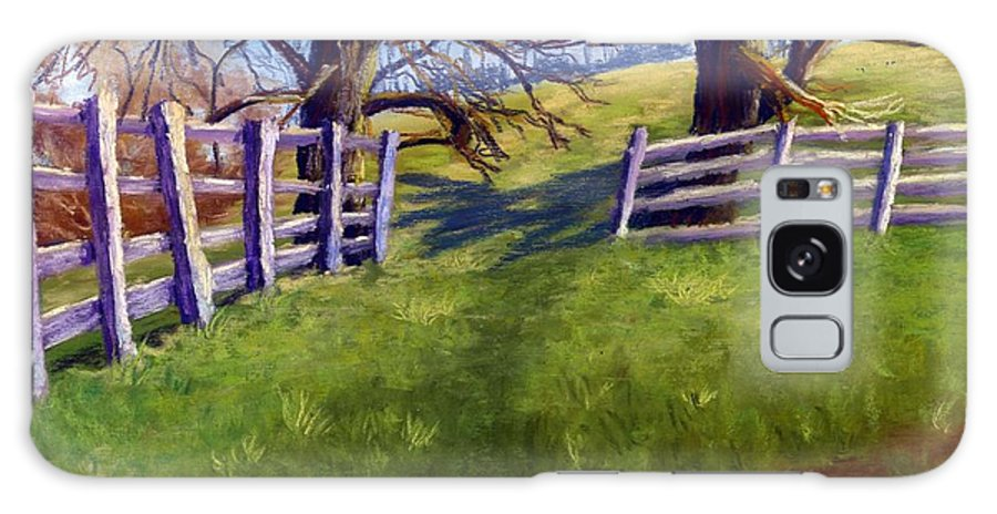 Pasture Galaxy Case featuring the painting Throught The Pasture Gate by Sharon E Allen