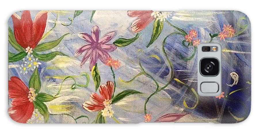 Flowers Galaxy S8 Case featuring the painting Throwing Wildflowers by Jennifer Henson
