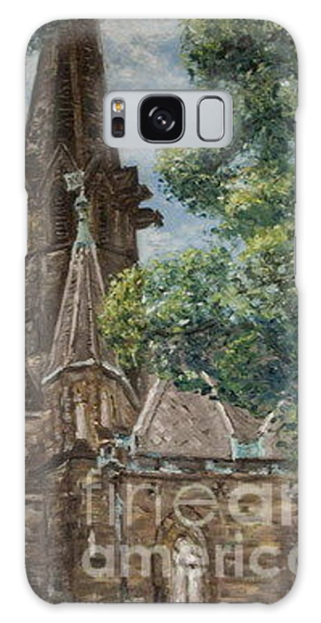 Galaxy S8 Case featuring the painting Thun Castle by Pablo de Choros