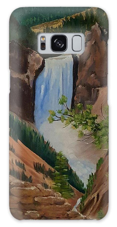 Waterfall Galaxy S8 Case featuring the painting Thunder Falls by Susan Galassi