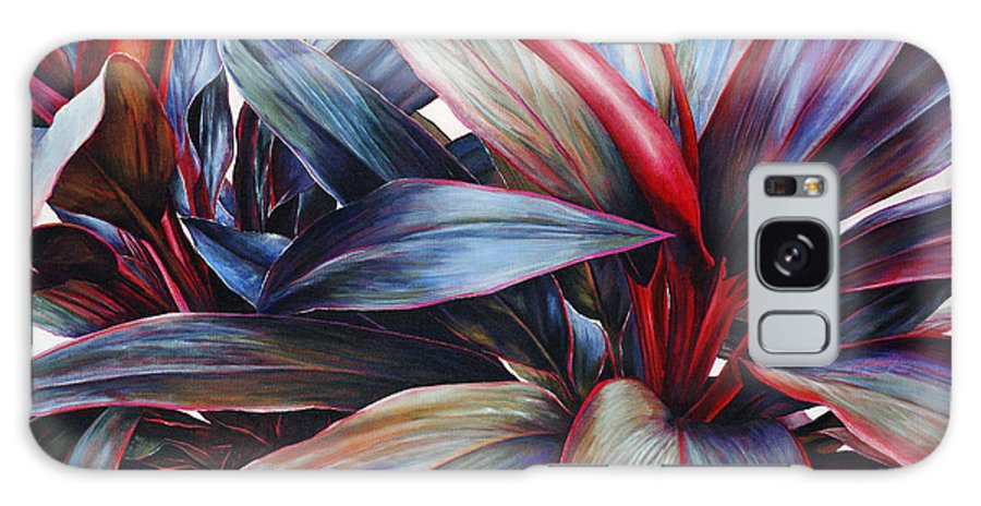 Acrylic Galaxy S8 Case featuring the painting Ti In Blue by Sandra Blazel - Printscapes
