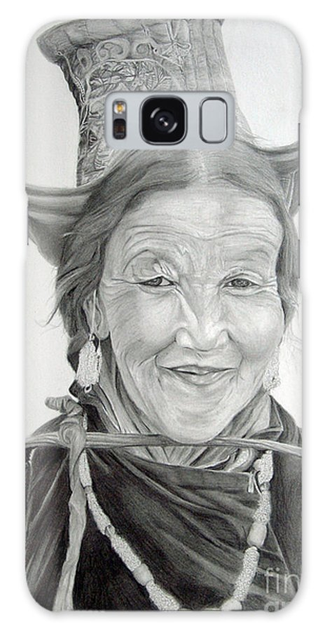 Figurative Art Galaxy S8 Case featuring the drawing Tibetan Delight by Portraits By NC
