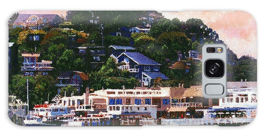 Landscape Galaxy S8 Case featuring the painting Tiburon California Waterfront by Frank Wilson