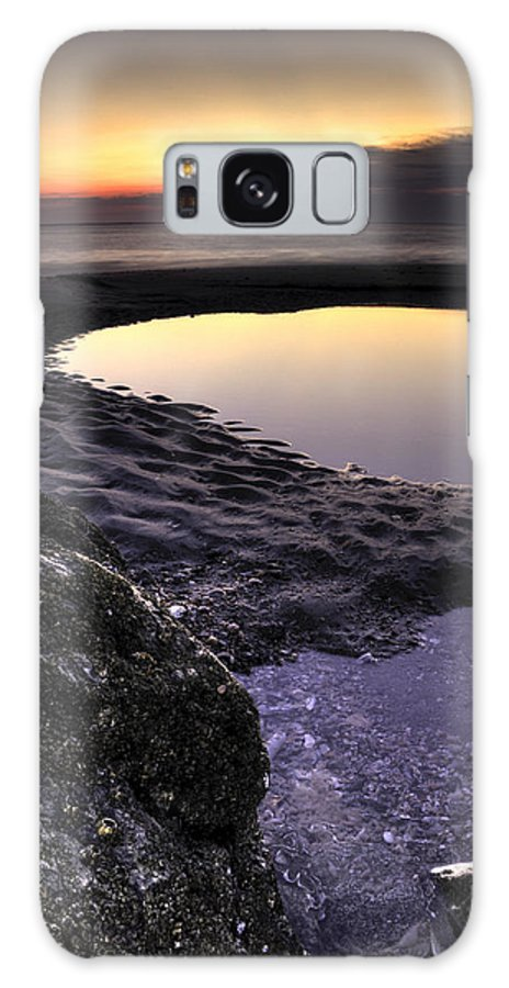Tidal Pools Morning Folly Beach Lowcountry South Carolina Landscape Water Beach Hdr Galaxy S8 Case featuring the photograph Tidal Pool Reflections by Dustin K Ryan