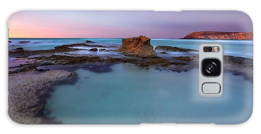 Seascape Tidepools Galaxy Case featuring the photograph Tidepool Dawn by Mike Dawson