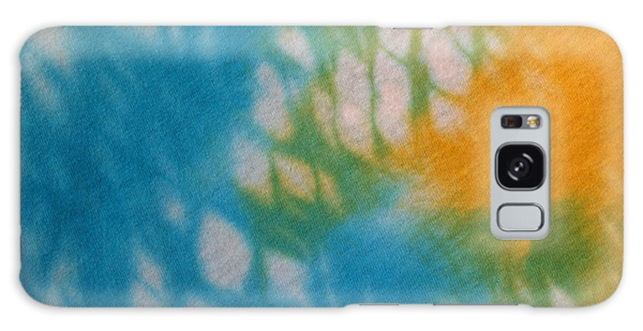 Tie-dye Galaxy Case featuring the photograph Tie Dye In Yellow Aqua And Green by Anna Lisa Yoder