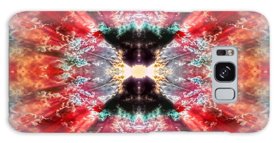Tie Dye Galaxy S8 Case featuring the digital art Tie Dye Sky by Gordon Dean II