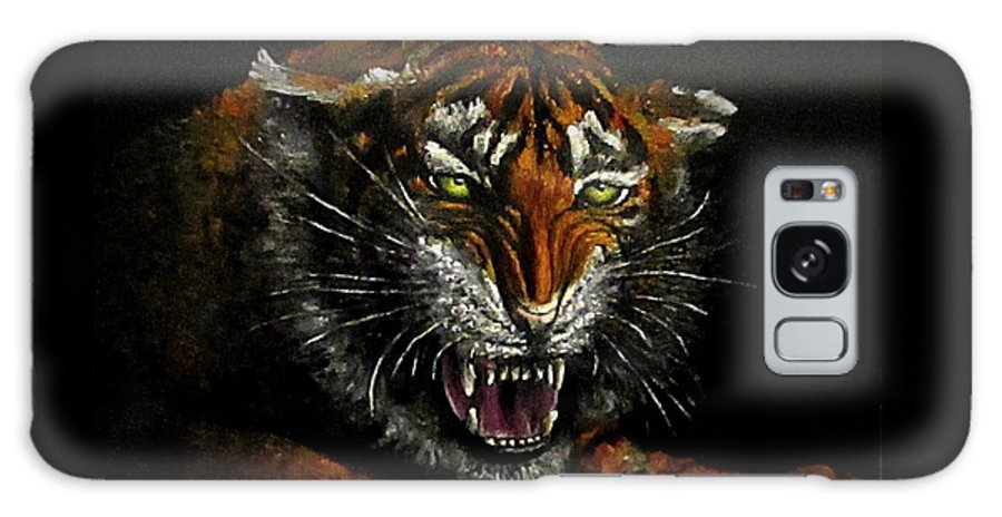 Animal Galaxy S8 Case featuring the painting Tiger-1 Original Oil Painting by Natalja Picugina