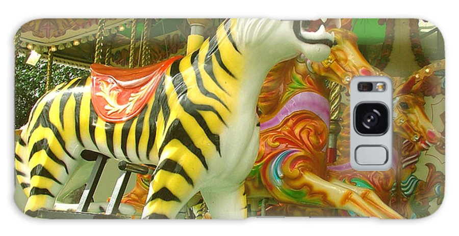 Tiger Galaxy S8 Case featuring the photograph Tiger Carousel by Heather Lennox
