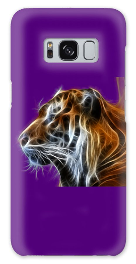 Tiger Galaxy S8 Case featuring the photograph Tiger Fractal by Shane Bechler