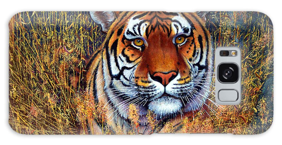Tiger Galaxy S8 Case featuring the painting Tiger by Frank Wilson