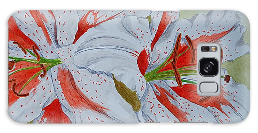 Lilly Red Lilly Tiger Lilly Galaxy S8 Case featuring the painting Tiger Lilly by Herschel Fall