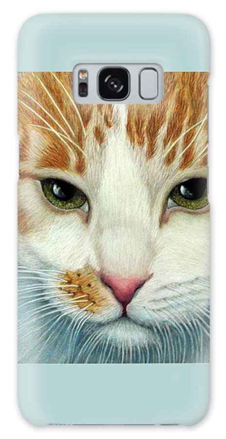 Kittens Galaxy S8 Case featuring the drawing Tiger Lily by Beverly Fuqua