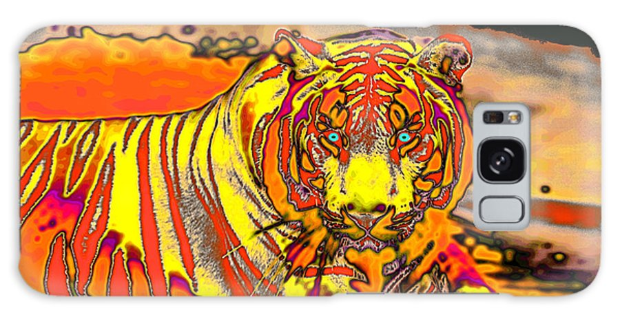 Poem Galaxy S8 Case featuring the photograph Tiger Shining Bright by Carl Purcell