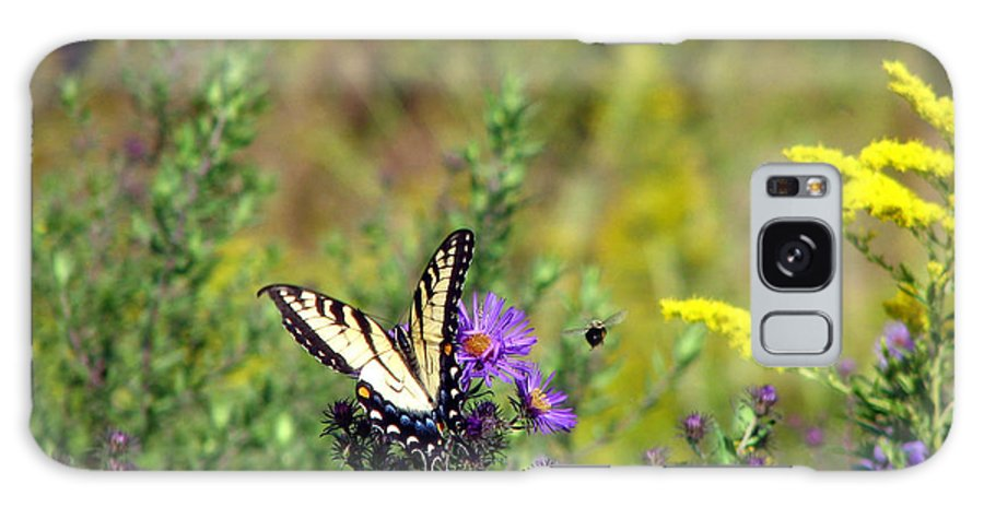 Tiger Swallowtail Galaxy S8 Case featuring the photograph Tiger Swallowtail And Bee by George Jones
