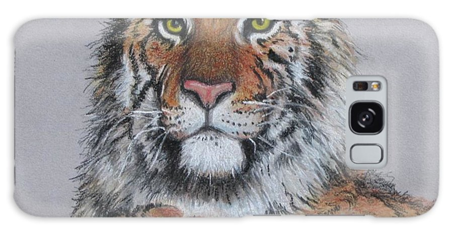 Tiger Galaxy S8 Case featuring the painting Tiger by Tanja Ware