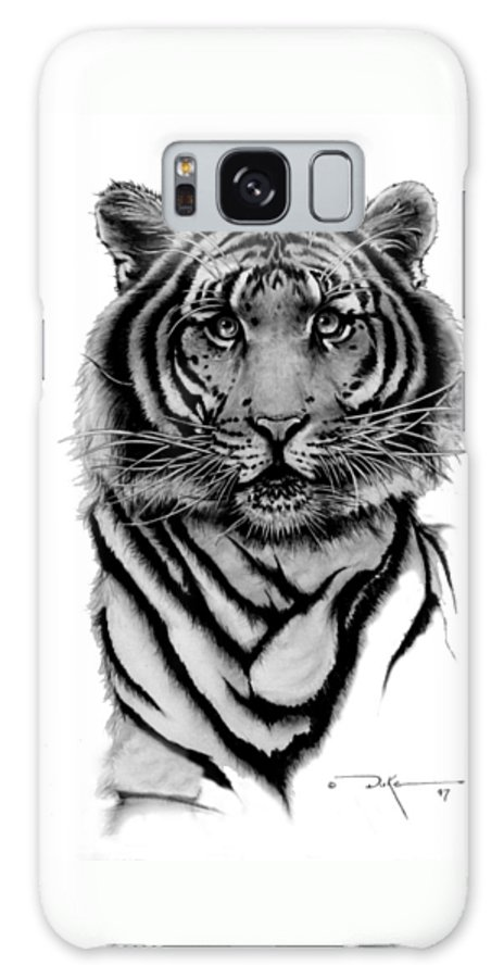 Tiger Galaxy S8 Case featuring the drawing Tiger Tiger by Duke Windsor