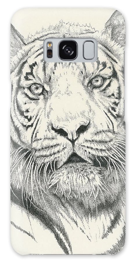 Tiger Galaxy S8 Case featuring the drawing Tigerlily by Barbara Keith