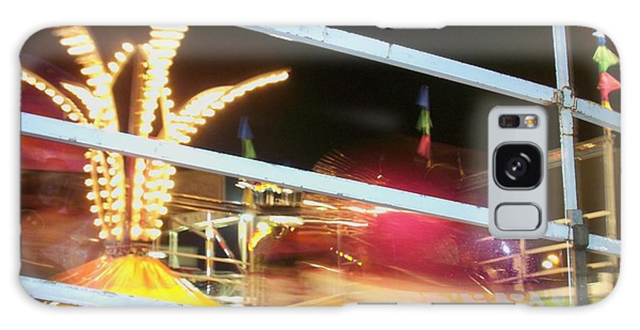 State Fair Galaxy S8 Case featuring the photograph Tilt-a-whirl 2 by Anita Burgermeister