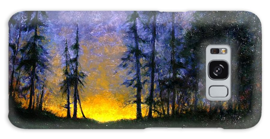 Landscape. Nocturn Galaxy S8 Case featuring the painting Timberline by Jim Gola