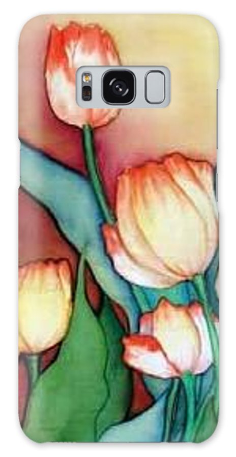 Silks Galaxy S8 Case featuring the painting Time For Tulips by Francine Dufour Jones