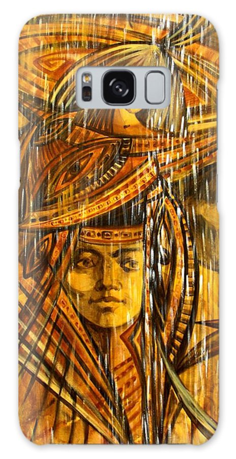 Surrealism Galaxy S8 Case featuring the painting Time Rain by Inga Vereshchagina