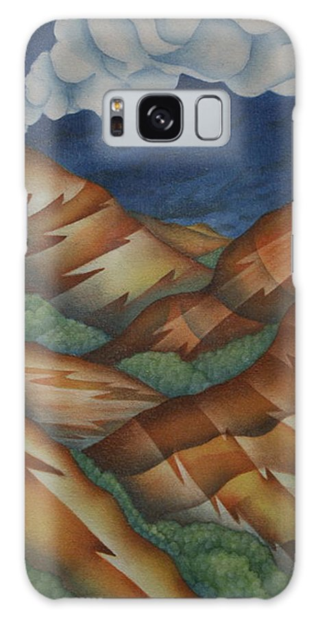 Mountains Galaxy S8 Case featuring the painting Time To Seek Shelter by Jeniffer Stapher-Thomas