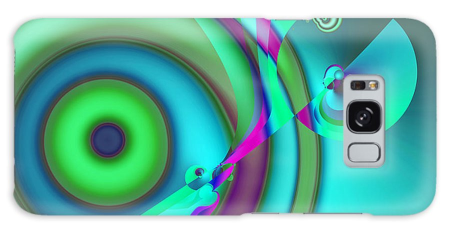 Abstract Galaxy Case featuring the digital art Time Warp by Frederic Durville