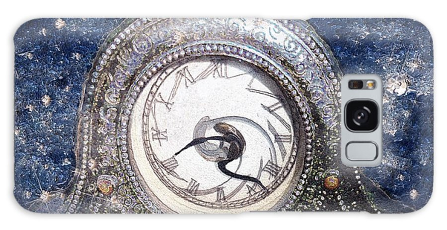 Clock Galaxy S8 Case featuring the painting Time Warp by RC DeWinter