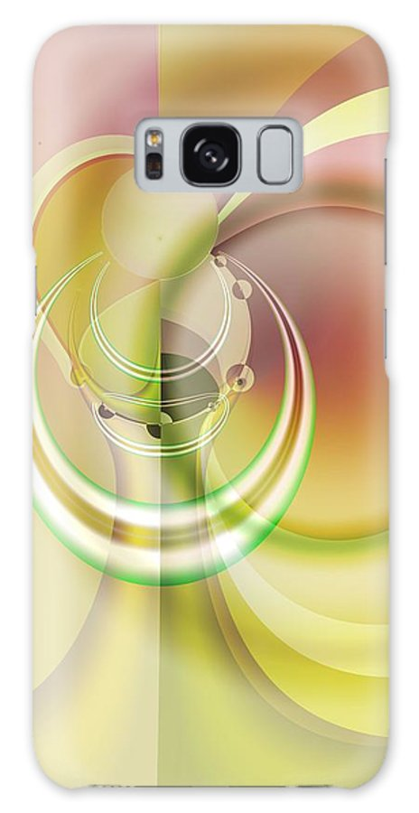 Fractal Galaxy Case featuring the digital art Time Warp Revisited by Frederic Durville