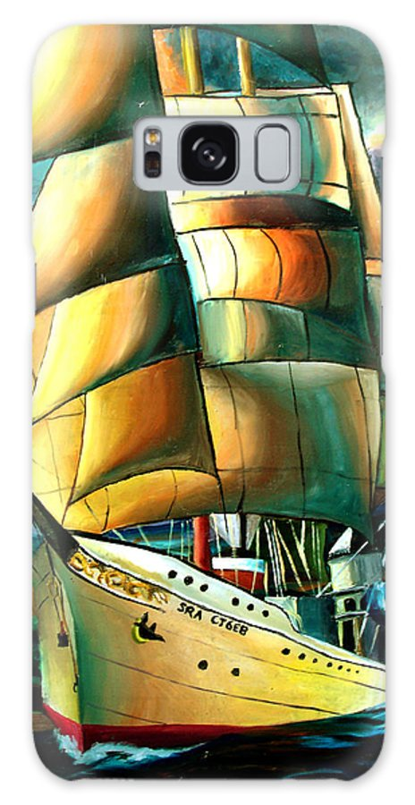 Ship Galaxy Case featuring the drawing Timeless by Darcie Duranceau