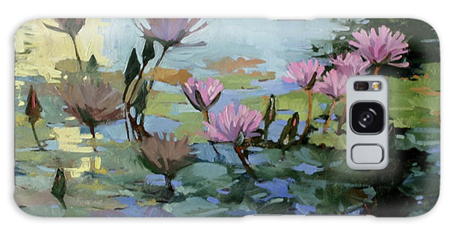 Floral Galaxy S8 Case featuring the painting Times Between - water Lilies by Betty Jean Billups