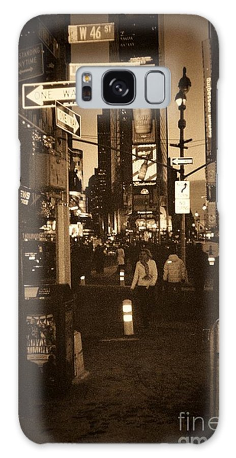 New York Galaxy Case featuring the photograph Times Square by Debbi Granruth