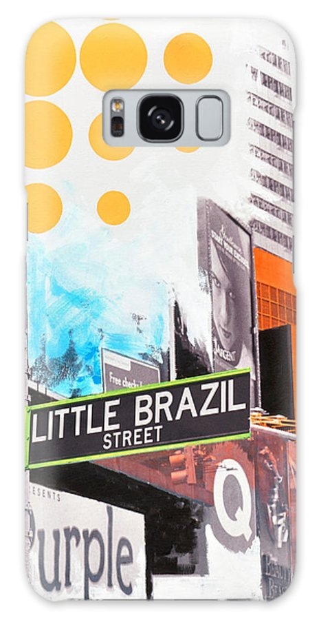 Ny Galaxy Case featuring the painting Times Square Little Brazil by Jean Pierre Rousselet