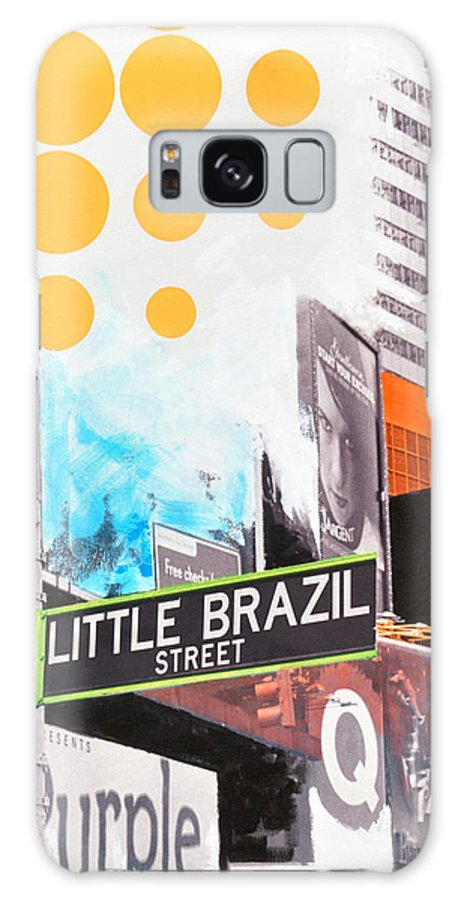 Ny Galaxy S8 Case featuring the painting Times Square Little Brazil by Jean Pierre Rousselet