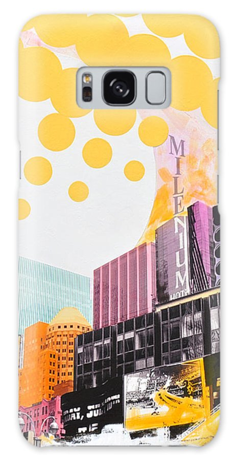 Ny Galaxy Case featuring the painting Times Square Milenium Hotel by Jean Pierre Rousselet
