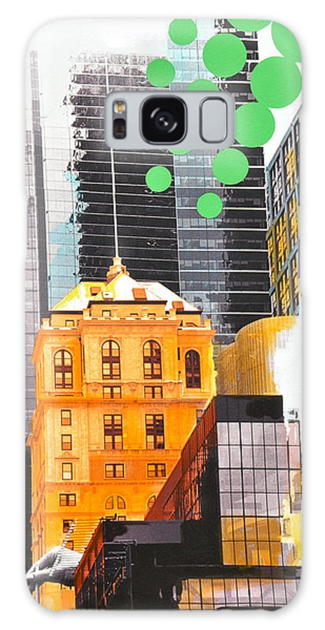 Ny Galaxy Case featuring the painting Times Square Ny Advertise by Jean Pierre Rousselet