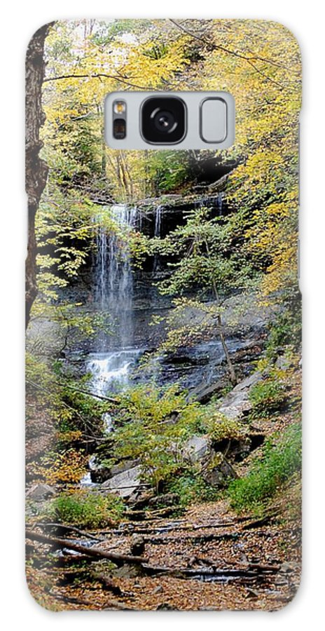 Digital Photograph Galaxy S8 Case featuring the photograph Tinker Falls by David Lane