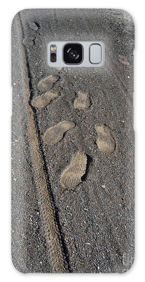 Prescott Galaxy S8 Case featuring the photograph Tire Tracks And Foot Prints by Heather Kirk