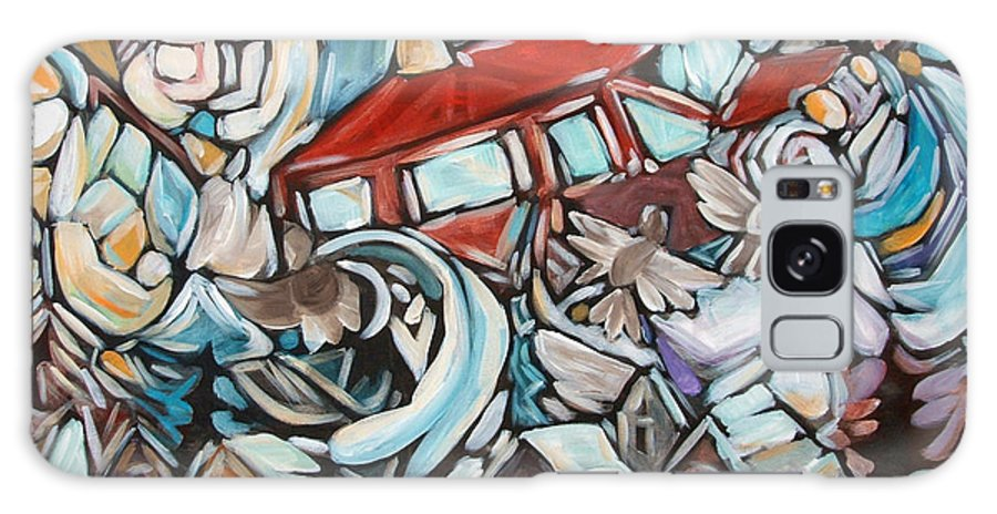 Van Galaxy Case featuring the painting Tire Well Sparrows by Chad Elliott