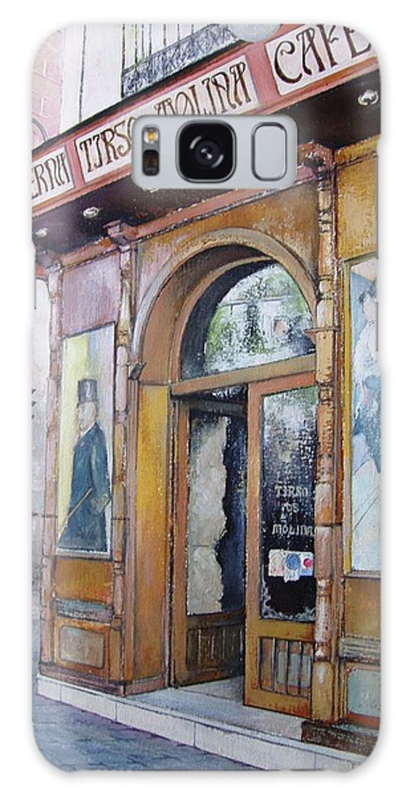 Tirso Galaxy Case featuring the painting Tirso De Molina Old Tavern by Tomas Castano
