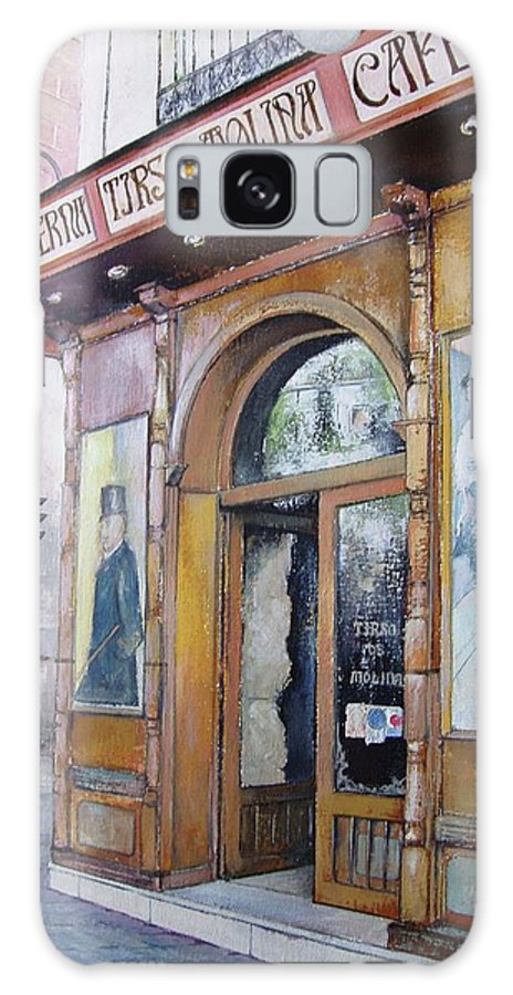 Tirso Galaxy S8 Case featuring the painting Tirso De Molina Old Tavern by Tomas Castano