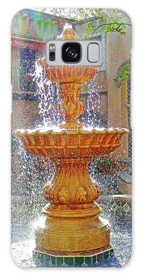 Tlaquepaque Galaxy S8 Case featuring the photograph Tlaquepaque Fountain In Sunlight by Robert Meyers-Lussier