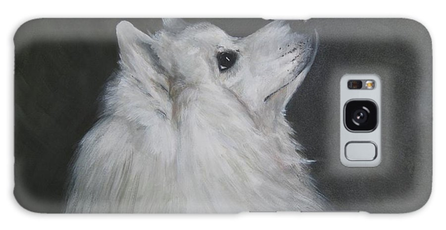 Samoyeds Galaxy S8 Case featuring the painting To Live With A White Dog by Elizabeth Ellis