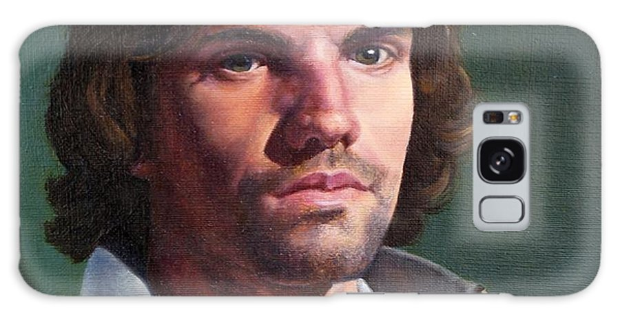 Portrait Galaxy Case featuring the painting Toby by Deborah Allison