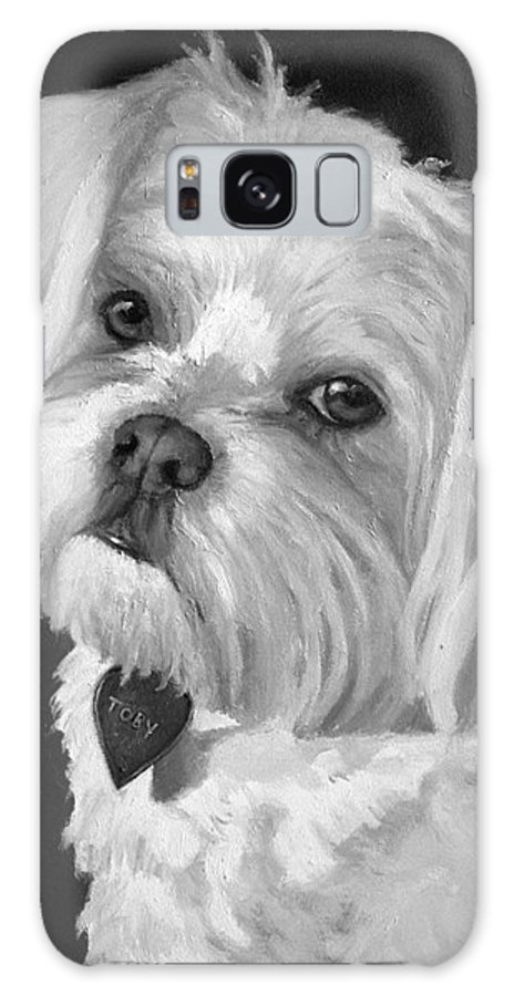 Dogs Galaxy S8 Case featuring the painting Toby by Portraits By NC