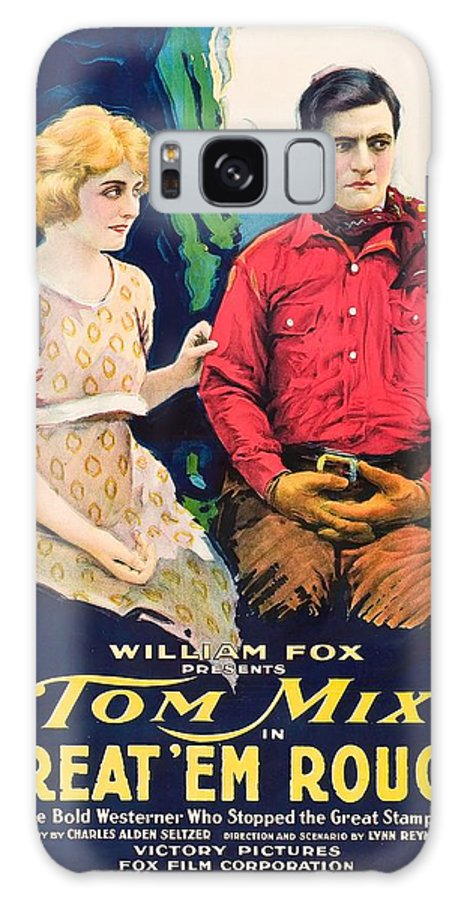 Movie Galaxy S8 Case featuring the drawing Tom Mix In Treat'em Rough 1919 by Mountain Dreams