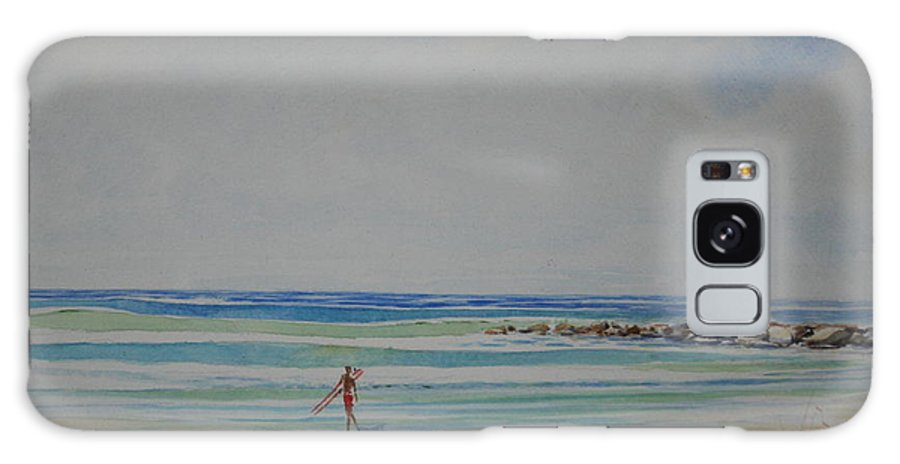 Beach Galaxy Case featuring the painting Tom by Tom Harris